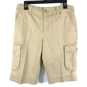 🛍 Lauren Jean Co Ralph Lauren Khaki Long Shorts